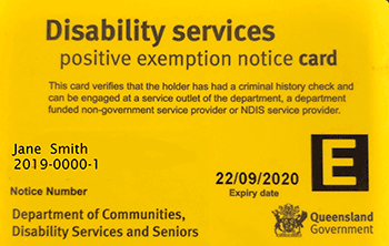 Yellow Card Exemption Card